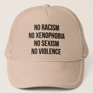 GEEN RACISME, GEEN HOMOPHOBIA, GEEN SEKSISME, GEEN TRUCKER PET
