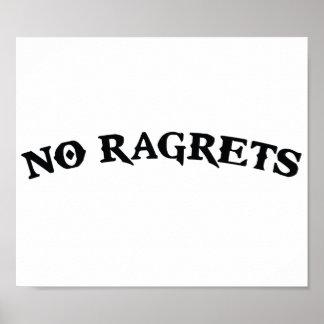 Geen Ragrets Mispelled betreurt Tattoo Poster