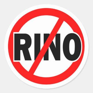 GEEN republikeins/conservatieve RINO Ronde Sticker