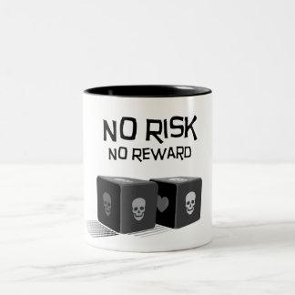 Geen Risico, Geen Beloning Tweekleurige Koffiemok