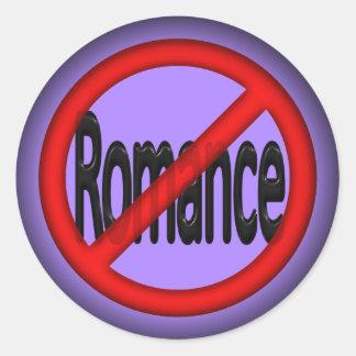 Geen Romance Ronde Sticker