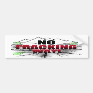 Geen Sticker van de Bumper van de Manier Fracking