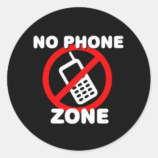 Geen Streek van de Telefoon Ronde Sticker