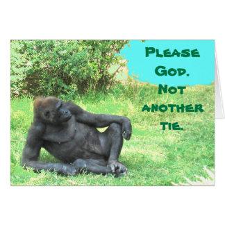 Geen Stropdassen voor de Grote Aap! Vaderdag Wenskaart