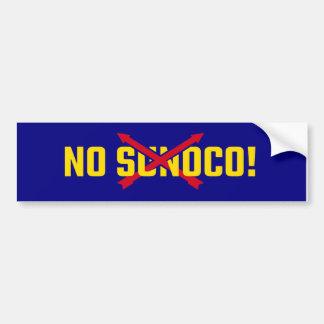 Geen Sunoco! Bumpersticker