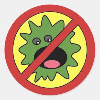 Geen Teken van Monsters Ronde Sticker