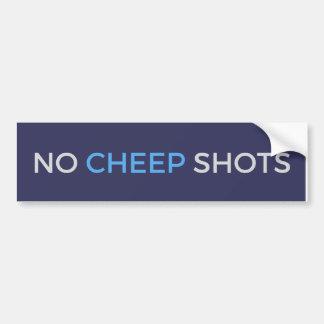 Geen tjirp Schoten tjirpen de Blauwe Sticker van
