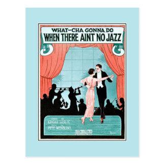 Geen van de de jaren '20jazz van de Jazz van het Briefkaart