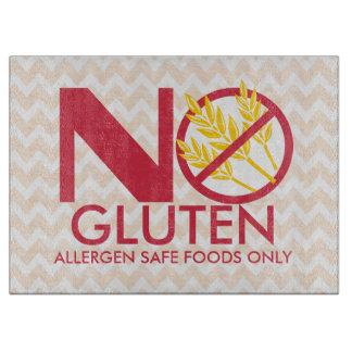 Geen Veilige scherpe raad van het Gluten of van de Snijplank