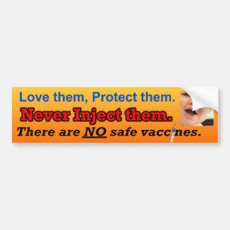 Geen veilige vaccins bumpersticker
