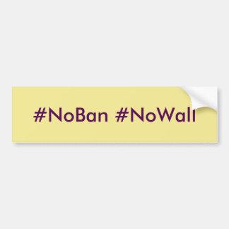 Geen Verbod Geen de bumpersticker van de Muur