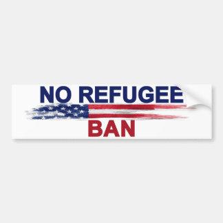 Geen Verbod van de Vluchteling Bumpersticker