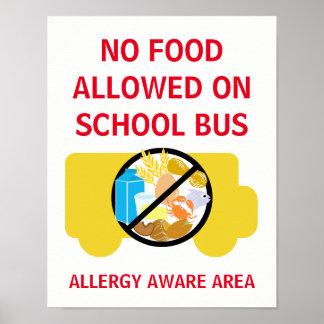 Geen Voedsel Toegestaan op Bewuste de Allergie van Poster