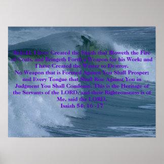 Geen Wapen dat tegen 54:16 -17 van Isaiah wordt ge Poster