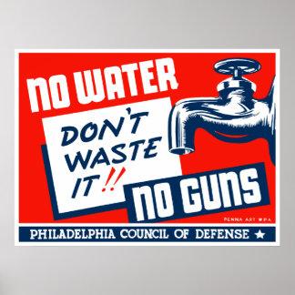 Geen Water Geen Pistolen -- WPA Poster