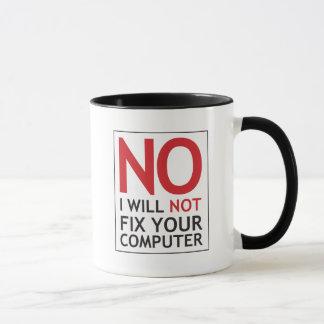 Geen zal ik Uw Computer niet bevestigen Mok