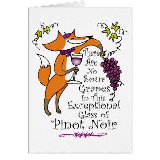 Geen Zure Druiven in deze Pinot Noir! Briefkaarten 0