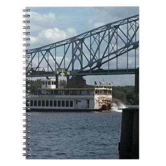 Geest van Dubuque op de Rivier van de Mississippi Notitieboek