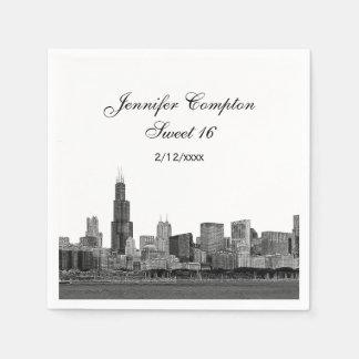 Geëtst Chicago kijkt Snoepje 16 van de Horizon Wegwerp Servet