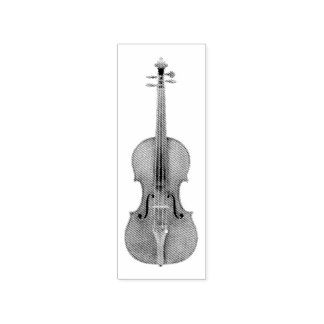 Geëtste de Viool van de Stradivarius kijkt Rubberstempel