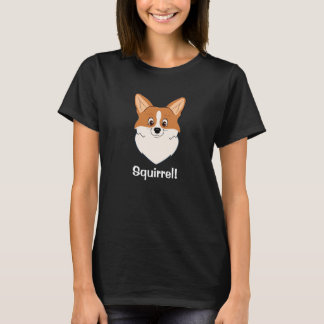 "Gefascineerde Corgi Cartoon ""Eekhoorn "" T Shirt"