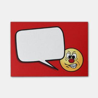 Gefrustreerd Smiley Gezicht Grumpey Post-it® Notes