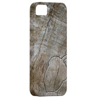 Gegraveerde effect eikel op hout barely there iPhone 5 hoesje
