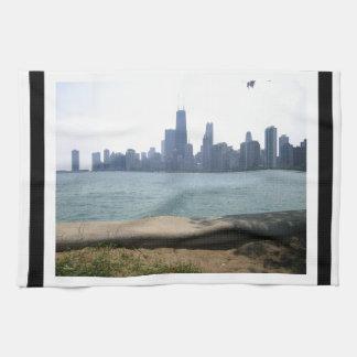 Gegrenste de Horizon van Chicago Theedoek