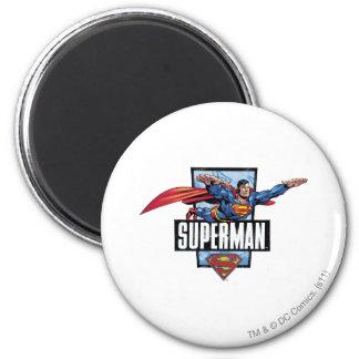 Gegrenste superman en Logo Ronde Magneet 5,7 Cm