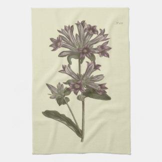Gegroepeerde Botanische Illustratie Bellflower Theedoek