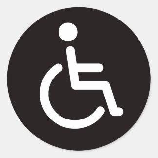 Gehandicapt symbool ronde sticker