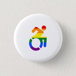 Gehandicapte Trots - Homosexueel Ronde Button 3,2 Cm