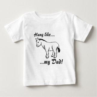 Gehangen als….mijn Papa! Baby T Shirts
