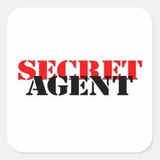 Geheimagent Vierkante Sticker