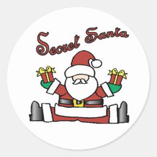 geheime santa ronde sticker