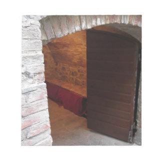 Geheimzinnige deur, geheime ingang notitieblok