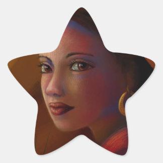 Geheimzinnige Vrouw Ster Sticker