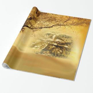 geheimzinnigheid uil inpakpapier