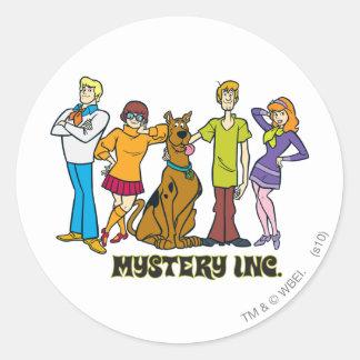 Gehele Troep 12 Mystery Inc Ronde Sticker