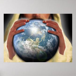 Gehele Wereld in Zijn Handen Poster
