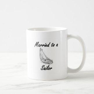 Gehuwd aan een zeeman koffiemok