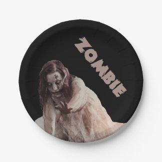 Gehuwde zombie papieren bordje
