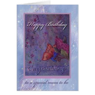 geïllustreerd congrats aan mamma om verjaardag te wenskaart