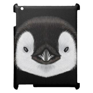 Geïllustreerd portret van de pinguïnkuiken van de hoesje voor iPad
