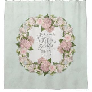Geïllustreerde Geloof van de Hydrangea hortensia Douchegordijn