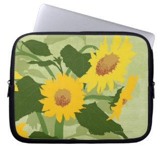 Geïllustreerde Zonnebloemen Laptop Sleeve