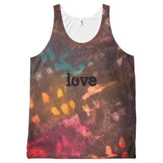 geïnkte liefde grunge All-Over-Print tank top