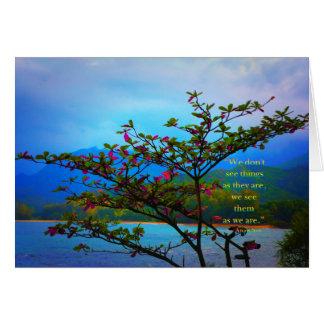 Geïnspireerde natuur: Wij zien de Wereld zoals wij Kaart