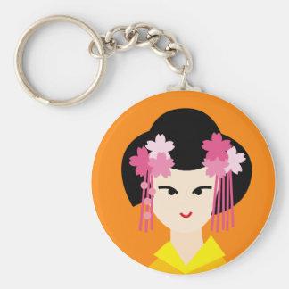geisha gezicht 4 sleutelhanger