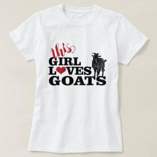 GEIT   Dit Meisje houdt van de ZuivelBok van T Shirt